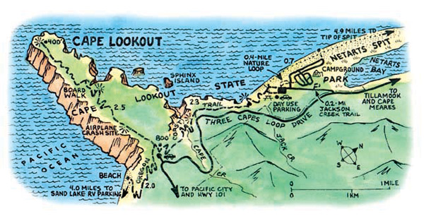 Cape Lookout Map