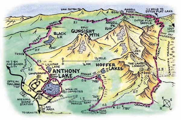 Anthony Lake Oregoncom - Map of oregon lakes