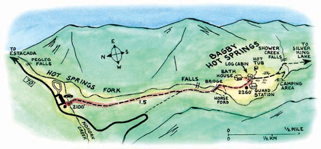 Bagby Hot Springs Map