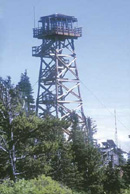 This 62-foot fire lookout tower was built in 1995.