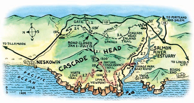 Cascade Head Map
