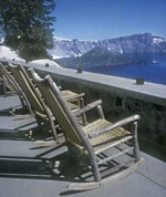 Crater Lake Lodge provides a great place to stay and excellent seats for beauty. Photo by William Sullivan