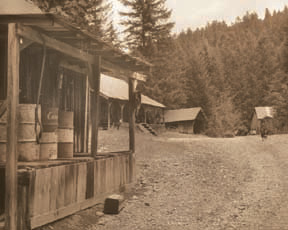 Jawbones Flats is a Depression-era mining camp that now greets hikers