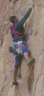 Rock climbing is a popular Smith Rock sport.