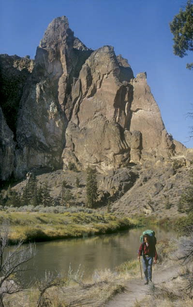 Smith Rock State Park offers pleasant hiking most of the year. Photo by William Sullivan