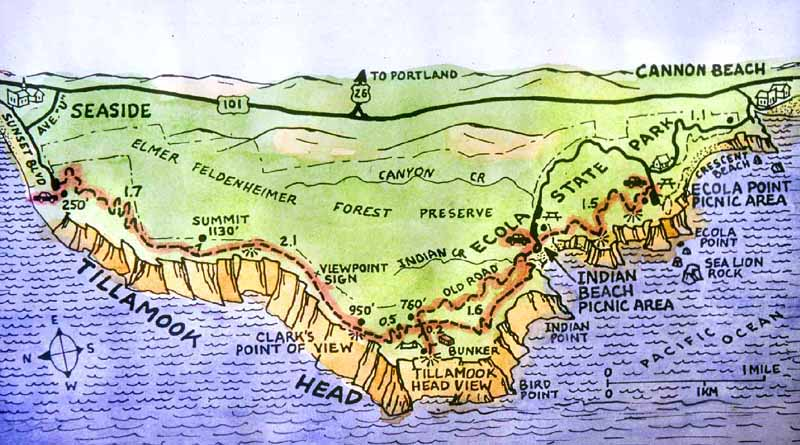 Tillamook Head Map